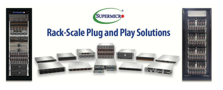 Supermicro представляет решения Plug and Play для монтажа в стойку