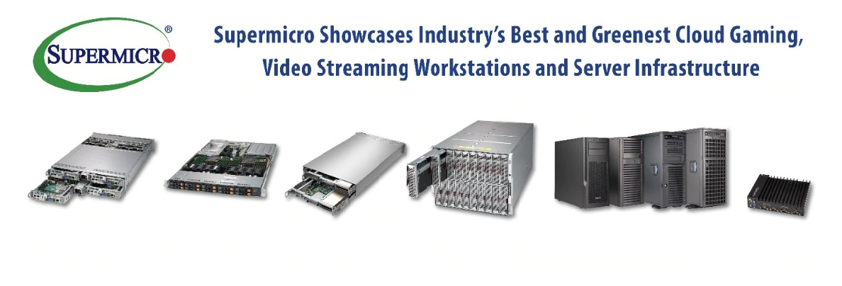 Supermicro демонстрирует облачные игры, рабочие станции  и серверную инфраструктуру